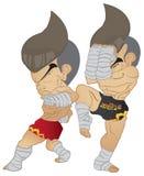 泰拳战斗 库存图片