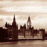 泰晤士河全景 免版税图库摄影
