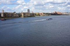 泰晤士河全景 库存照片
