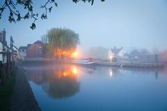 泰晤士河在牛津 免版税库存图片