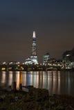 从泰晤士河的看法碎片的 库存图片