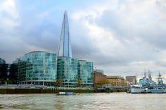 泰晤士河,伦敦,英国的储蓄图象 免版税库存照片