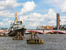 泰晤士河,伦敦,英国 免版税图库摄影