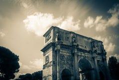 泰特斯曲拱在罗马,意大利 库存图片