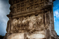 泰特斯曲拱在罗马 免版税图库摄影
