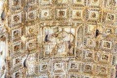 泰特斯曲拱皇帝耶路撒冷胜利罗马广场罗马意大利 免版税库存图片