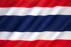 泰王国的旗子 免版税图库摄影