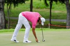 泰王杯2016年,高尔夫球在泰国 免版税库存照片