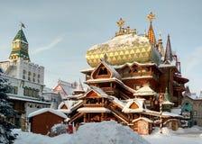 泰赖姆Izmailovsky克里姆林宫在莫斯科 库存照片