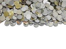泰铢泰国硬币 库存图片