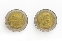 10泰铢的特别硬币在泰国 免版税库存图片