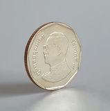 5泰铢硬币 库存图片