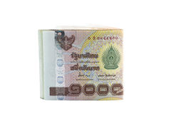 泰铢钞票 免版税图库摄影