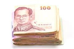泰铢钞票 免版税库存照片