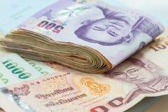 泰铢钞票 库存图片