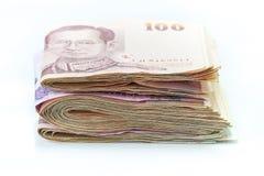 泰铢钞票 图库摄影