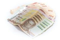 泰铢钞票 库存照片