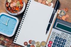 泰铢铸造金钱,财政计划 图库摄影