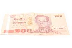 100泰铢 库存照片