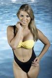 泳装的俏丽的妇女 免版税库存照片