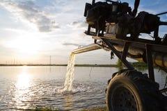 水泵供应农业普遍用于鱼和shr 免版税库存照片