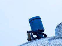 黑水泵在白色背景中 库存图片