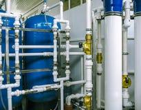 泵浦和管道系统 库存图片