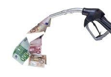 泵浦喷管和欧元 免版税库存照片