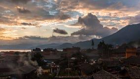 泸沽湖早晨视图 图库摄影