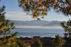 泸沽湖风景区,美丽的湖在中国 库存图片