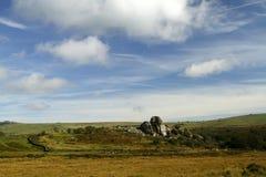 泼妇突岩Dartmoor 免版税图库摄影