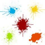 泼溅物油漆颜色的组装汇集 例证desi 免版税库存图片
