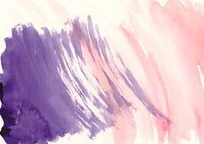 泼溅物设计的水彩横幅 免版税库存图片