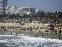 活泼的海滩 库存照片
