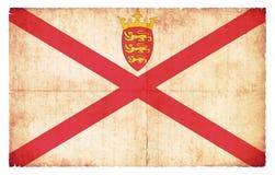泽西英国冠庄园难看的东西旗子  库存图片