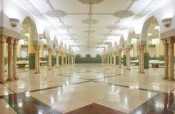 洗净液大厅内部清真寺 免版税库存图片