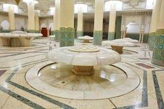 洗净液大厅内部清真寺 库存图片
