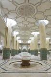 洗净液大厅哈桑内部清真寺 库存照片