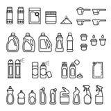 洗涤剂 清洗和消毒作用瓶象的化学制品 皇族释放例证