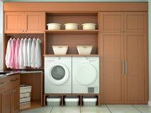 洗涤和清洗的设计室 免版税库存图片