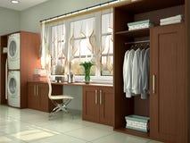 洗涤和清洗的设计室 皇族释放例证