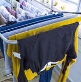 洗涤物和干燥晒衣架 库存照片