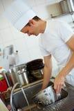 洗涤的主厨  免版税图库摄影