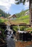 洗涤的原始的村庄大桶 免版税库存照片