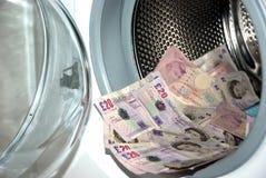 洗涤的货币 免版税库存照片
