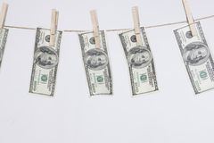 洗涤的货币 库存图片