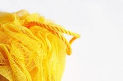洗碗布黄色 免版税库存照片