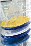 洗碗盘行为设备 免版税库存照片