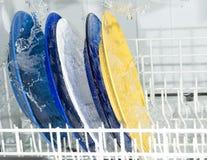 洗碗盘行为设备 免版税库存图片