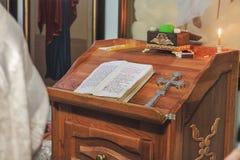 洗礼教会礼拜式  免版税库存照片